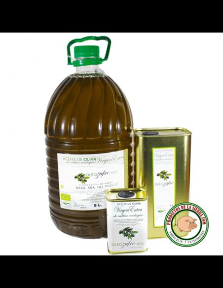 Garrafa 5L. Aceite de Oliva Virgen Extra Ecológico Oleo-Zufre