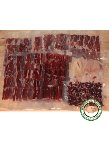Iberian Ham Acorn Fed 5 Kg. Sliced and vacuumed sealed